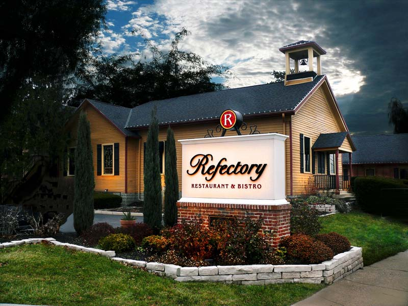 Exterior Refectory Sign and Building
