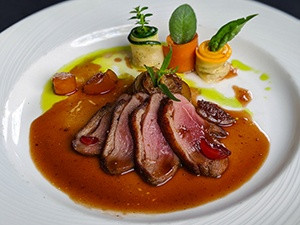 spiced duck breast